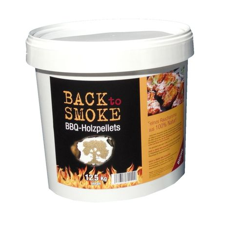 Smoker Pellets BACK to SMOKE Buche, Eimer á 12,5 kg