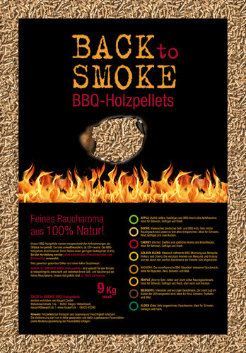 Smoker Pellets BACK to SMOKE, Sack á 9,00 kg